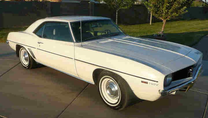 1969 Camaro Paint Codes